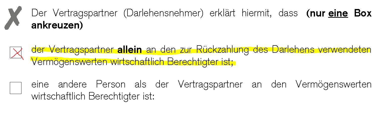 Formular A - Was ist das und wozu dient es? › Kredit - bestfinance.ch